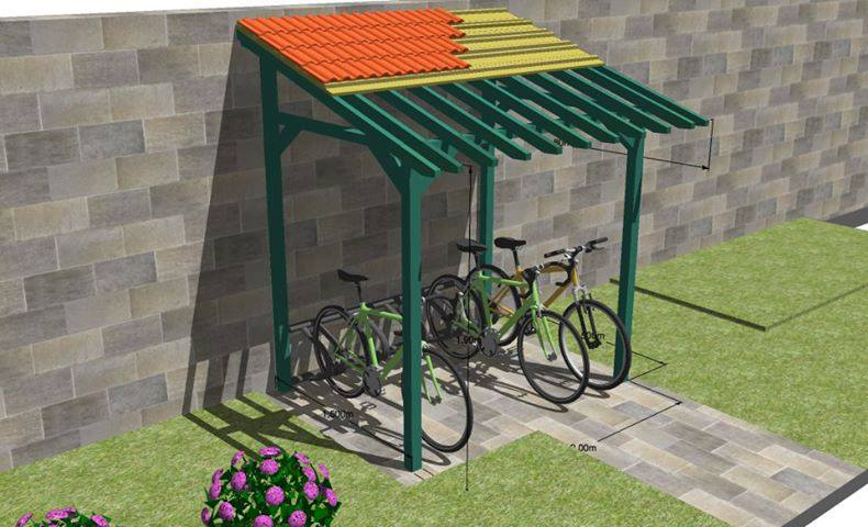 Modèle Sketchup Appentis à vélo