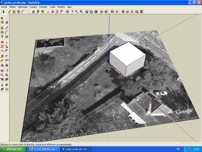Tutoriel SketchUp Dessiner la maison sur son emplacement
